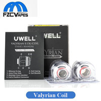 Wholesale Newest Arrival - Authentic Uwell Valyrian Coil Head Replacement 0.15ohm Atomizer Core Fires 100W-120W Box Mod Newest Arrival 100% Original