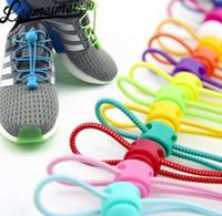 bloqueio de estiramento venda por atacado-Laço de bloqueio de alongamento 23 cores um par de cadarços de calçados de bloqueio cadarços de tênis elástico Shoestrings executando / corrida / Triathlon
