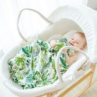 ingrosso coperte di bambù-Coperta di cotone di bambù 120 * 120cm Coperta del bambino di bambù Asciugamano di cotone Ins Flamingo Coperte Swaddle Coperte Funzioni Baby Swaddle Coperta
