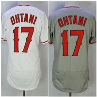 Wholesale Player Free - men's New Angeles 17# Shohei Ohtani New Player Red White Coolbase Flexbase Baseball Jerseys Free Shipping