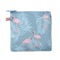 перья фламинго оптовых-Прекрасный тампон пакет нулевой бумажник большой емкости женский пакет легко хранить и убирать фламинго перо цветы