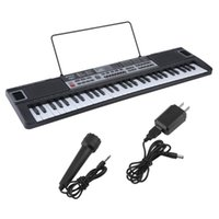 Wholesale electronic piano organ - 61 Key Music Key Board Children Electronic Organ Teaching Learning Electronic Piano With Music Note Stand US Plug