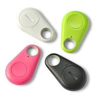 etiquetas bluetooth al por mayor-Envío rápido Mini Smart Finder Bluetooth Tracer Pet Child Etiqueta de localización GPS Alarma Monedero Rastreador de claves evitar la desaparición