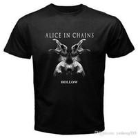 ingrosso catene a collo per la vendita-On Sale New Fashion Summer Corta Alice In Chains Uomo Zomer O-Neck Magliette