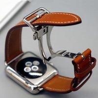 bilezik serisi toptan satış-Watch Bilezik Seires Hakiki Deri Kayış herm Apple Watch Band Serisi 1 2 3 iwatch 38 42mm Saat Kordonu