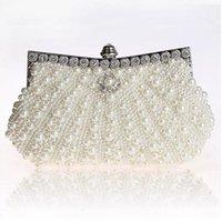 vintage perle handtaschen großhandel-Zweiseitige Perle Abendtasche Hot Luxury Womens Party Clutch Kette Geldbörse Hochzeit Braut Taschen Vintage Hobos Handtaschen Mode