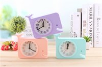Wholesale clocks images - Cartoon cute animals image small alarm clock lazy bell