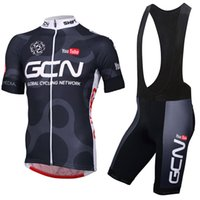 Wholesale Mens Bicycles - New 2018 TEAM GCN pro cycling jersey bike shorts Set MTB Ropa Ciclismo quick dry cycling WEAR mens BICYCLING Maillot Culotte M2501