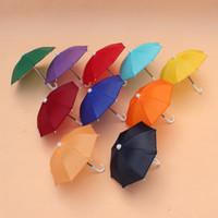 Wholesale toy semi resale online - 500pcs Mini Simulation Umbrella For Kids Toys Cartoon Many Color Umbrellas Decorative Photography Props Portable And Light