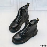 ingrosso più vendita di stivali di dimensioni-Vendita calda nuovi stili di moda inverno di alta qualità in vera pelle moto martin stivali scarpe donna stivaletti plus size