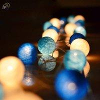 boncuklar eu toptan satış-Lyfs Pamuk Topu 20-Beads ile Dize Işıklar ABD / AB-fiş Parti, veranda, düğün, yenidoğan, noel, sevgililer dekor hediye