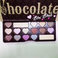 Wholesale Best Hot Chocolate - HOT Makeup Chocolate Bar Eyeshadow semi-sweet Sweet Peach Bon Bons A Girl's Best Friend Eye Shadow Palette 16 Color Eye Shadow plates
