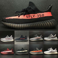 Wholesale copper rubber - Beluga 2.0 Sply 350 V2 Breds Semi Frozen Yellow Blue Tint Zebra Copper Olive Green Cream White Kanye West Running Shoes Sneakers
