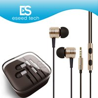 Wholesale tablet xiaomi - Universal 3.5mm Metal For Xiaomi Headphones Headsets With Mic Stereo In-Ear Earphone For Iphone X 8 Samsung Tablet MP3 4 All Cellphone
