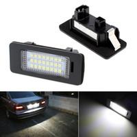 Discount smd led car auto - Car Lights Signal Lamp 2pcs! 12V SMD 3528 LED Car License Plate Light Bulb Xenon White LED Lamp for Auto BMW E39