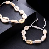 weiße edelsteine großhandel-Armband wunderschöne weiße Muscheln Farbe Quasten / natürliche Edelsteine / Charm Armbänder Shell Armbänder Frauen Schmuck