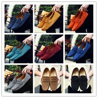 Wholesale grey men boat shoes - 2018 Men Penny Loafers Moccasin Driving Shoes Slip On Flats Boat Shoes 9 Colors Size US6-13 AK2088