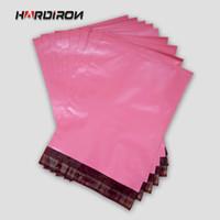 eisen mail großhandel-HARTE IRON Rosa rote Farbe Umschlag Verpackung Mailing benutzerdefinierte Größe Taschen Kurier Mailer Express-Beutel Rose Red