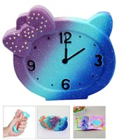 Wholesale Toy Clocks - 13cm Jumbo Squeeze Alarm Clock Squishy Slow Rising Jumbo Decompression Toy Phone Charms Stress Reliever Kids Gift