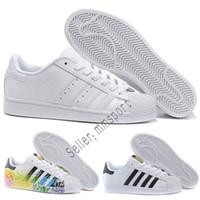 sports shoes 4c2e9 e7771 deportes adidas al por mayor-2018 Adidas NEW Originals Superstar White  Hologram Iridescent Junior Superstars