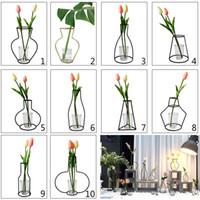eisengarten blumen großhandel-New Globe Fairy Miniatur Garten Ornamente Eisen Kunsthandwerk Einfache Balkon Blumentopf Stehen Vintage Hausgarten Dekoration Zubehör