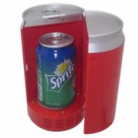 menor refrigerador venda por atacado-USB portátil mini freezer latas pequeno refrigerador geladeira geladeira carro frigorífico USB