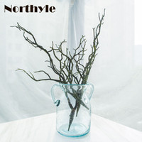 Wholesale artificial flowering trees - Vivid Dried branches artificial plant home decoration accessories DIY artificial tree trunk wedding decor