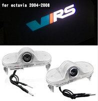 2pcs LED Door Warning Light Logo Projector Laser Ghost Shadow Light VIRS For Skoda Octavia 2004 2005 2006 2007 2008