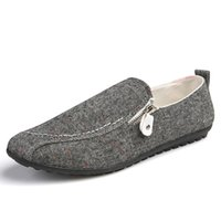 Wholesale cheap flat loafers men - Grey White Shoes Line Flat Men Casual Slip On Lazy Cheap Moccasins Men Loafers Spring Summer Men Canvas Shoes Breathable