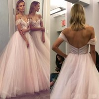 Wholesale Marie Red - 2018 Long Evening Dresses Off Shoulder Crystal Beaded Backless Sexy Prom Dresses Long Custom Made Formal Dresses robe de marie