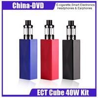büyük buharlar mods toptan satış-100% Orijinal ECT Cub 40 Mod Kiti 2200 mAh Elektronik Sigara Kiti Büyük Vape 2.0 ml Elfin Atomizer buhar Üst Dolum Buharlaştırıcı E-sigara