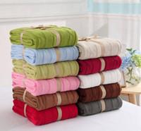 jacquard decken großhandel-Chunky Knit Blankets Erwachsene Kinder Decke Schal Baumwolle Wolldecke Sofa Klimaanlage Abdeckung Decke Handmade Woven werfen Foto Prop YL577