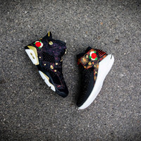Wholesale Mens Chinese Shoes - Spring Festival 2018 Air Retro 6 32 CNY Chinese New Year men basketball shoes 6s 32s Black Fireworks FLOWER mens trainer sneakers 40-47