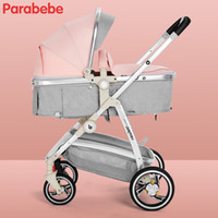 велосипед большие колеса оптовых-High Landscape Baby Strollers s Portable Pushchair Carriage Big Wheels Strollers For Newborns Pink Girls Toddler Bike Pram
