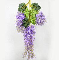 Wholesale wisteria home decor - Beautiful Wisteria Wedding Decor 110cm 75cm 4 colors Artificial Decorative Flowers for Party Wedding Home