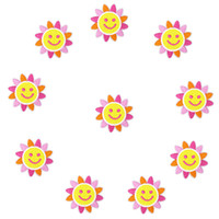 Wholesale smile kids clothing resale online - 10PCS Smile Sun Flower Patches for Applique Decoration Accessories Supplies Patches for Kids Clothing Iron Transfer Applique Patch Diy Craft