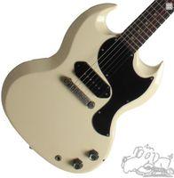 Wholesale sg guitar shop resale online - Custom Shop SG Junior Polaris White Cream Electric Guitar Single Coil Black P Pickup Chrome hardware Black Pickguard