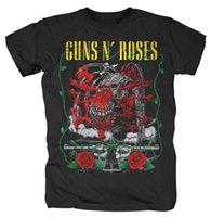 gül metali toptan satış-Yeni Guns 'N Roses Yaratık ve Tabancalar Ağır Metal Gömlek (M, L, 3XL) badhabitmerch Kısa Kollu Marka