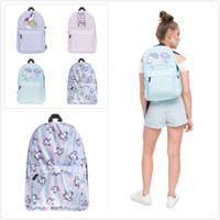 Wholesale colorful travelling bags for sale - Group buy Cute Cartoon Unicorn D Printing Backpacks Kids School Bags Sports Outdooor Travel Backpacks Bags Colorful Waterproof Styles