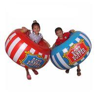 aufblasbare körper stoßkugeln großhandel-2 teile / los Kinder Outdoor Sport Spielzeug Aufblasbare Körper Eimer Bumper Ball Sumo Bopper Sensorische Ausbildung Aufblasbare Spielzeug