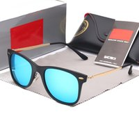 Wholesale mirrored glasses wayfarer online - 60MM New Vintage Sunglasses Wayfarer Brand RAYS Sun Glasses Bands Gafas de sol Men Women BEN BANS Mirror glass Lenses with case