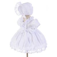 yaz için bebek vaftiz önlükleri toptan satış-Marka Sıcak 2018 Yaz Yenidoğan Bebek Vaftiz Elbisesi Elbise Kızlar için Beyaz Fildişi Prenses Dantel Şifon Elbiseler Yenidoğan Vaftiz