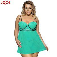 Wholesale g taste for sale - 2018 New M XL Plus Size Women Sexy Lingerie Nightdress Lace Temptation Transparent Taste Pajamas G string