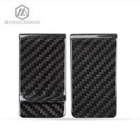 зажим углеродного волокна оптовых-Monocarbon Minimalist Genuine Carbon Fiber Money Clips Wallets