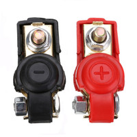 Wholesale battery switch car online - Pair Auto Car Battery Terminal Clamp Clip Connector Adjustable Positive Nagative