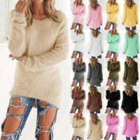ingrosso maglioni acrilici-Maglioni con collo a 13 colori Maglioni pullover da donna Casual Lady Top a maniche lunghe Knit Sweaters Fashion Abbigliamento donna