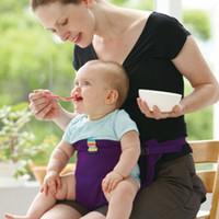 bebek besleme sandalyesi toptan satış-Bebek Sandalyesi Taşınabilir Bebek Koltuğu Ürün Yemek Öğle Sandalye / Koltuk Emniyet Kemeri Besleme Yüksek Sandalye Demeti Bebek sandalyesi koltuk