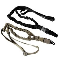 Wholesale bungee sling airsoft for sale - Tactical Gun Sling Adjustable Single Point Bungee Rifle Strap System for Airsoft Hunting