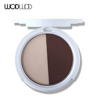 ingrosso tavolozza contorno opaco-WODWOD Face Powder 2 Color Contour Palette Matte Powdered Powder Brighten Highlighter Face Shadow Makeup