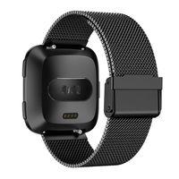 нержавеющая сталь оптовых-Stainless Steel Mesh Band Accessories Wristbands Straps Bracelet Watch Band For Fitbit Versa H35